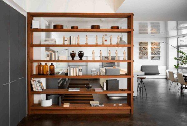 Separar espacios con muebles de madera - Ddk Interiores